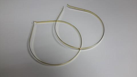 Основа/заготовка под ободок (металлическая) 0,5мм ширина, цвет - серебро
