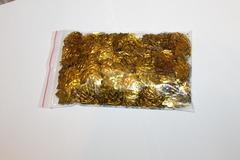 Пайетки лист кленовый золото 50грамм 22*20мм