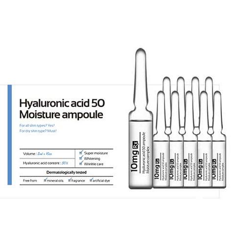 Hyaluronic acid 50 Moisture (увлажняющая с гиал-ой кис-ой) 1 коробка 10 ампул по 2 мл