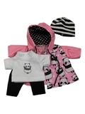 Костюм с футболкой и курткой - Розовый. Одежда для кукол, пупсов и мягких игрушек.