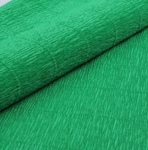 Гофрированная бумага однотонная. Цвет 563 зеленый, 180 г
