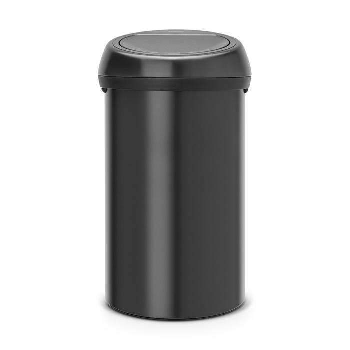Мусорный бак Touch Bin (60 л), Черный матовый, арт. 402562 - фото 1