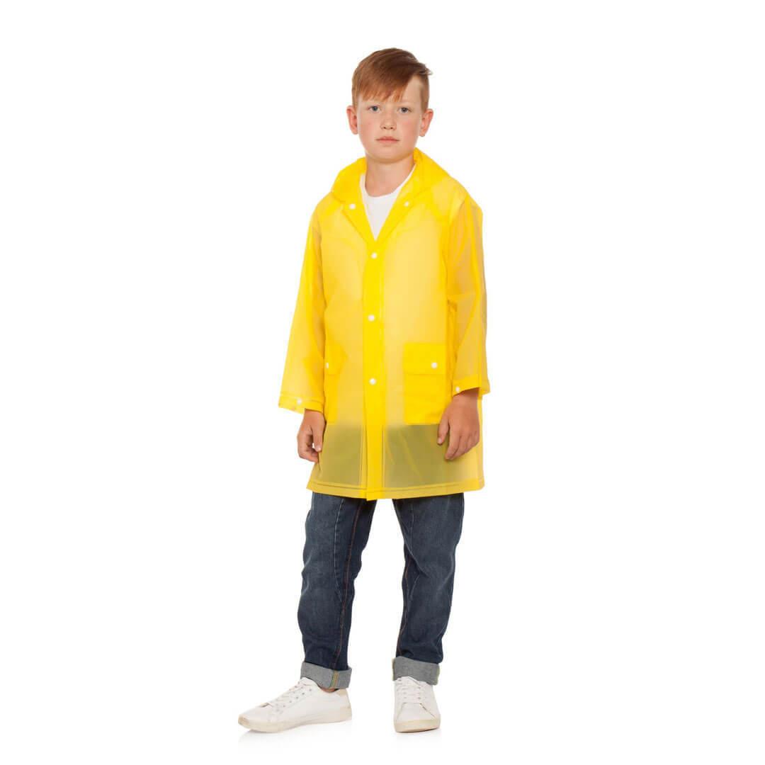 Плащ дождевик детский желтый