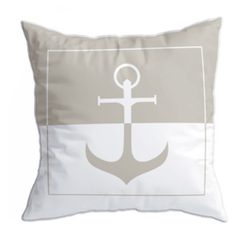 Santorini cushion set / anchor / beige