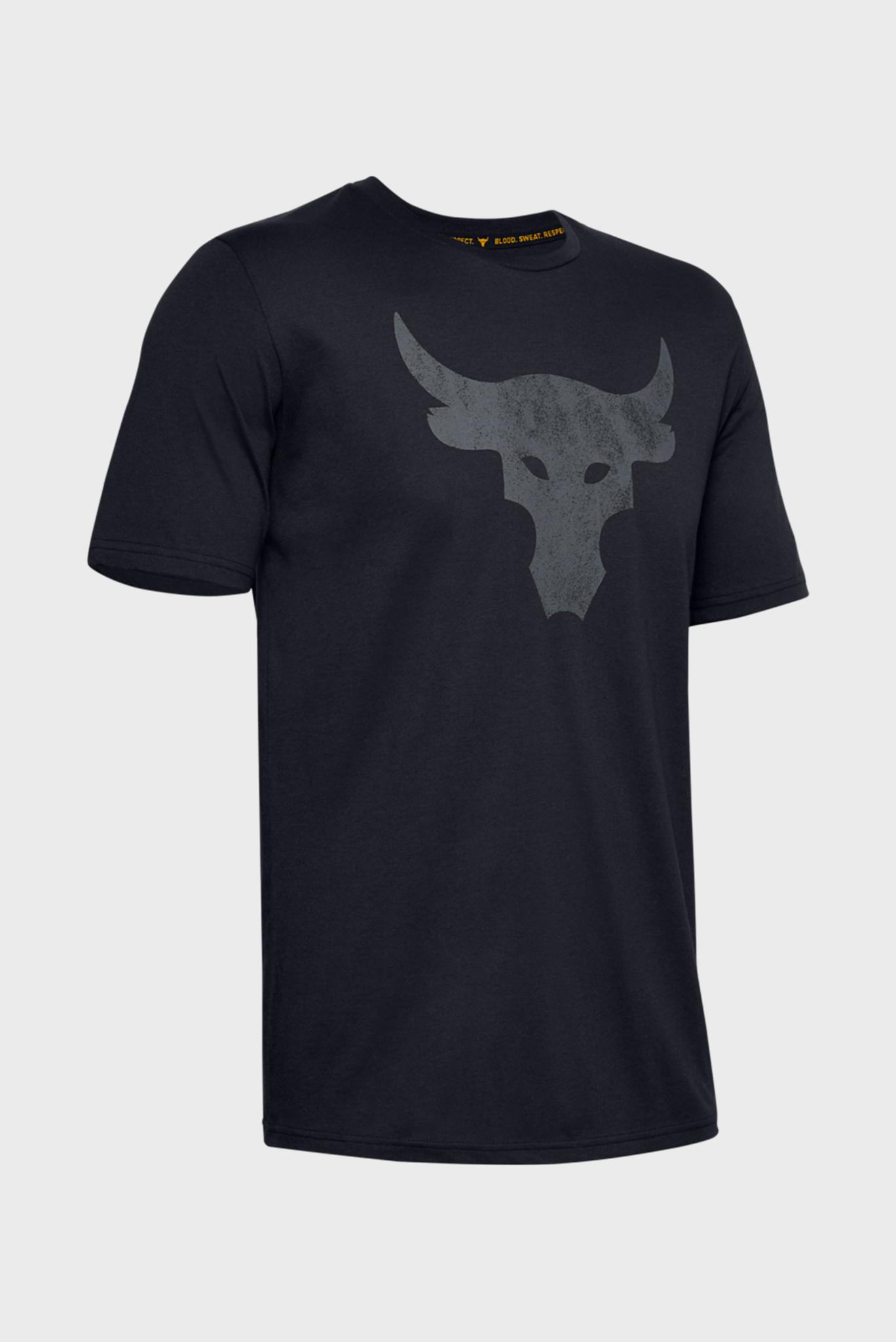 Мужская черная спортивная футболка Project Rock Brahma Bull SS Under Armour