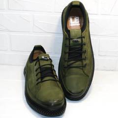 Кожаные кеды туфли мужские casual Luciano Bellini C2801 Nb Khaki.