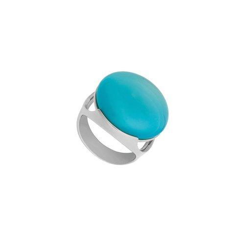 Кольцо Pearl Blue Sky Agate 18.5 мм K1977.21/18.5 B/S