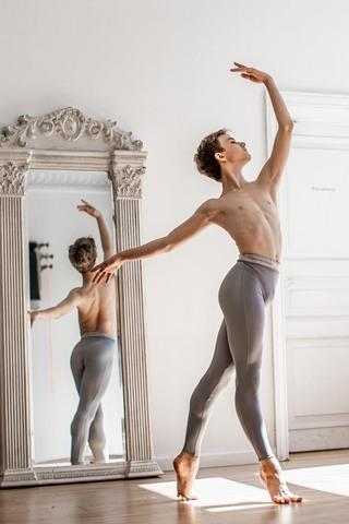 Ziphirus leggings for young men | grey