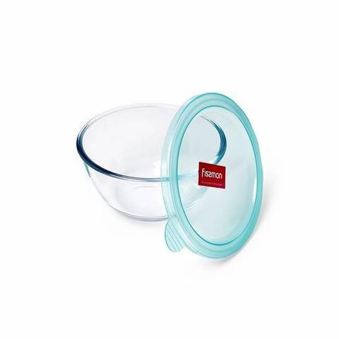6520 FISSMAN Миска с крышкой 15x8 см / 800 мл, стекло/пластик,  купить
