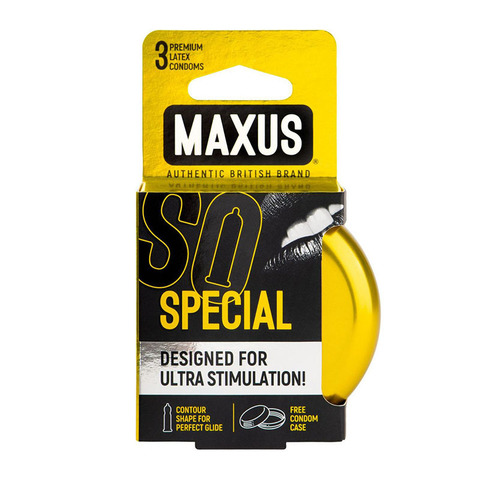 MAXUS Special №3 Презервативы в железном кейсе точечно-ребристые