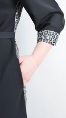 Сандал. Весняна сукня-сорочка великих розмірів. Леопард сірий.