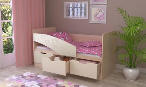 Детская кровать Бемби-7 МДФ, 80х180, розовая