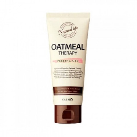 Calmia пилинг-гель для лица Oatmeal therapy peeling gel с овсом