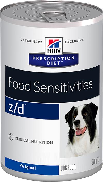 Влажные корма Ветеринарный корм для собак Hill`s Prescription Diet z/d Food Sensitivies, лечение острых пищевых аллергий зд.png
