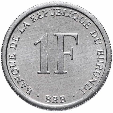 1 франк. Бурунди. 2003 г. AU