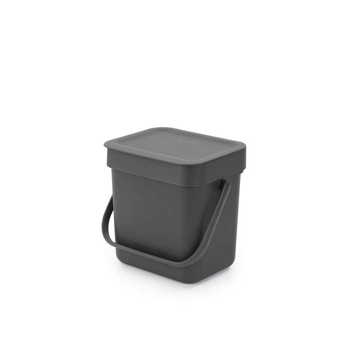 Мусорное ведро Sort & Go (3 л), Серый, арт. 209888 - фото 1
