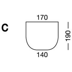 Elastic sheet / model C / white