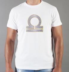 Футболка с принтом Знаки Зодиака, Весы (Гороскоп, horoscope) белая 0015