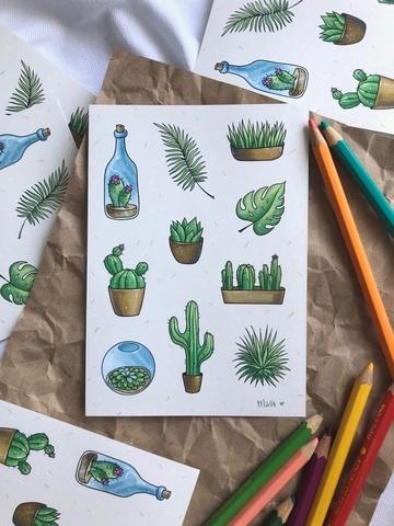 Стикерпак «кактусы»