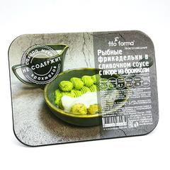 """""""Рыбные фрикадельки в сливочном соусе с пюре из брокколи"""" 250 г"""