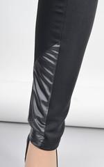 Бренда. Женские леггинсы больших размеров. Черный.