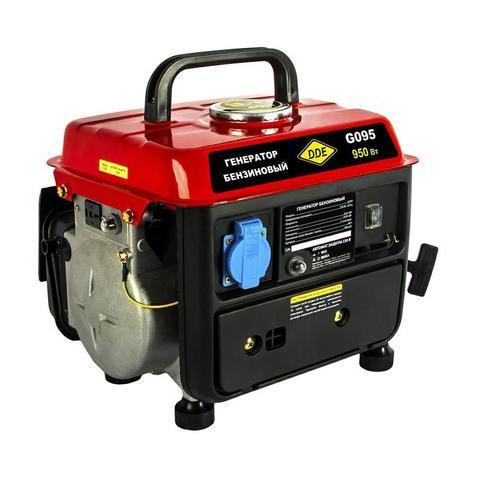 Генератор бензиновый DDE G095 (650/950 Вт, бак 4,2 л, дв-ль 2 такта, 2 л.с., 1 ф. + 12 В)