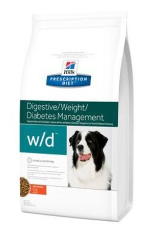 6662 ХИЛЛc ДИЕТА сух.д/собак W/D лечение сахарного диабета, запоров, колитов  12кг