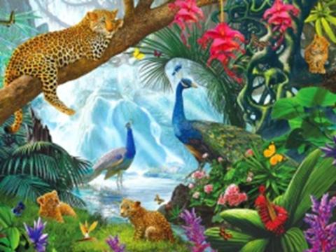 Алмазная Мозаика 40x50 Яркий животный мир (арт. GA70884)