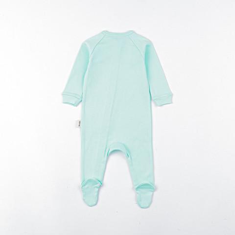 Zip-up sleepsuit 0+, Sweet Mint
