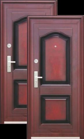 Дверь входная Кайзер K 516, 2 замка, 0,8 мм  металл, (медь антик+медь антик)