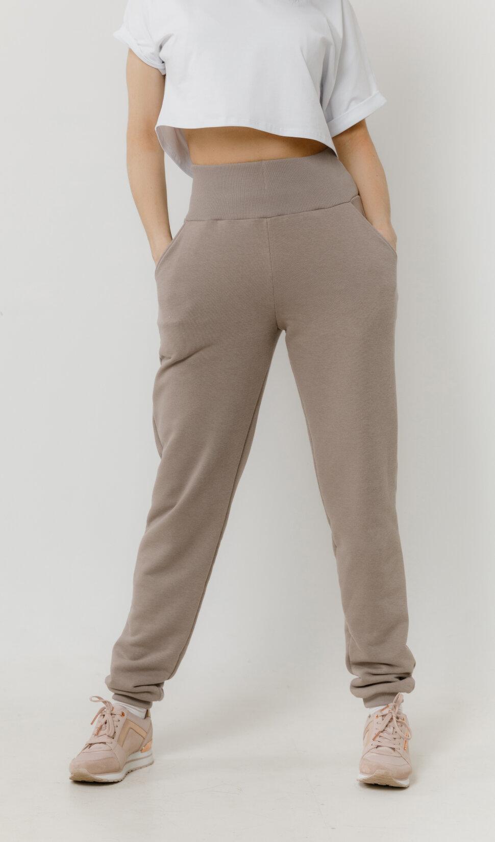 Женские спортивные брюки Basic Cotton Coffee
