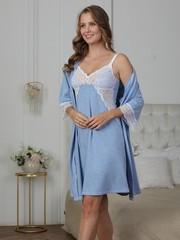 Vivamama. Комплект для беременных и кормящих Olivia, голубой меланж вид 2