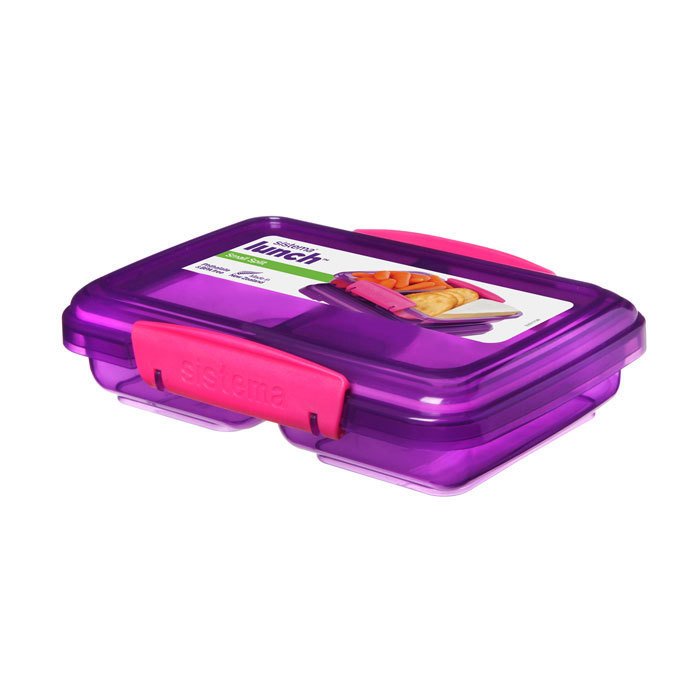 """Контейнер Sistema """"Lunch"""", двойной, 350 мл, цвет Фиолетовый"""