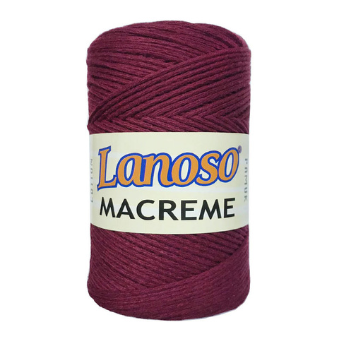 LANOSO  MACRAME COTTON (85% хлопок,15% полиэстер, 250гр/250м)