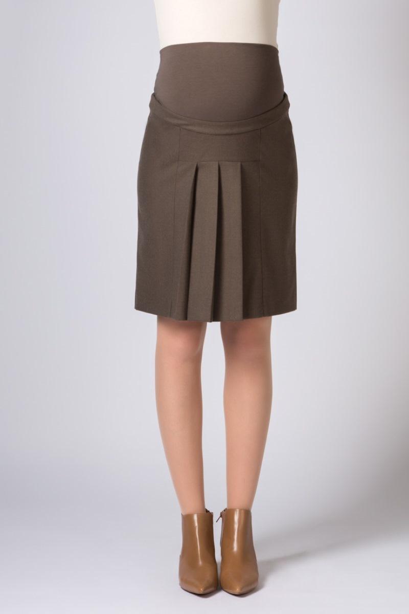 Юбка для беременных 06524 коричневый