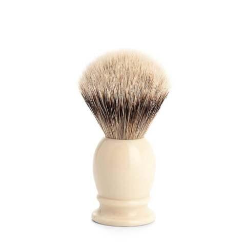Помазок MUEHLE CLASSIC , барсучий ворс Silvertip, смола слоновая кость 099 K 257