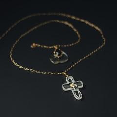 Медальон из прозрачного пластика в форме креста  оптом и в розницу