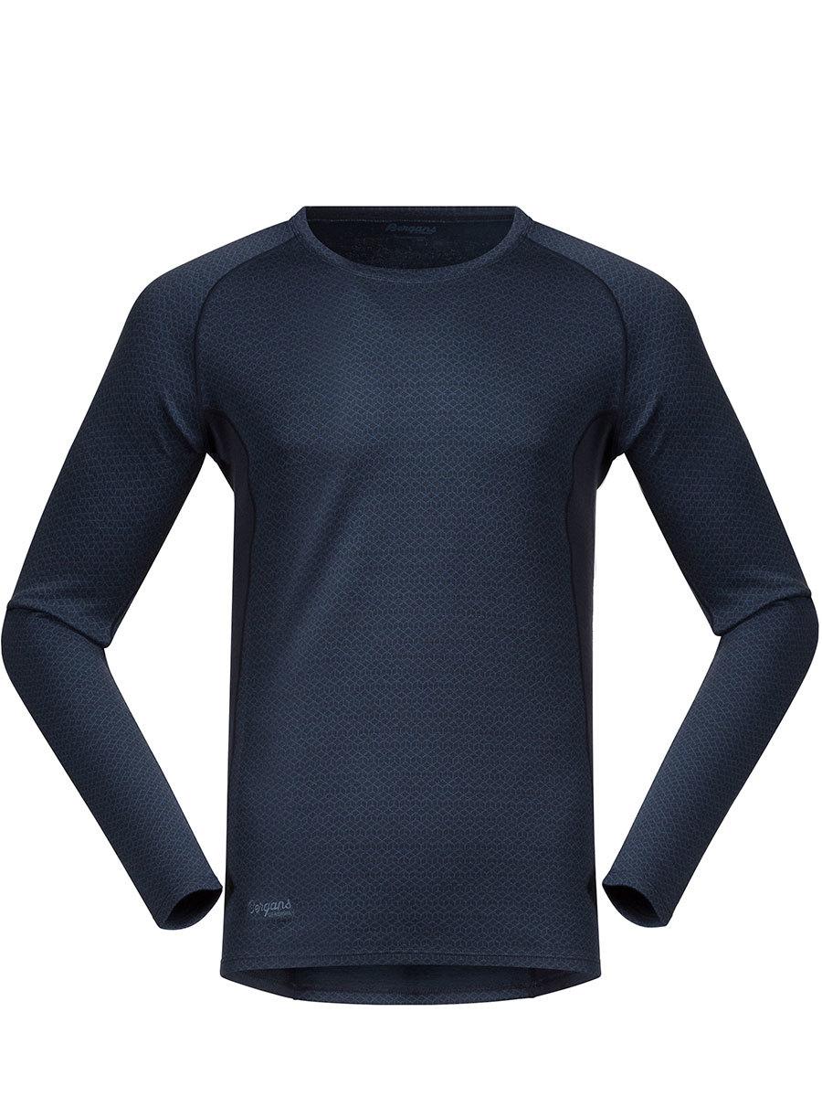 Bergans термобелье футболка 8960 Snoull Shirt Dark Fogblue
