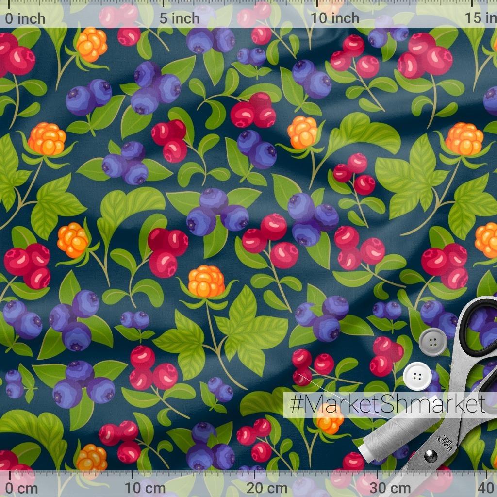 Карельские ягоды на темно-синем фоне (Дизайнер Irina Skaska)