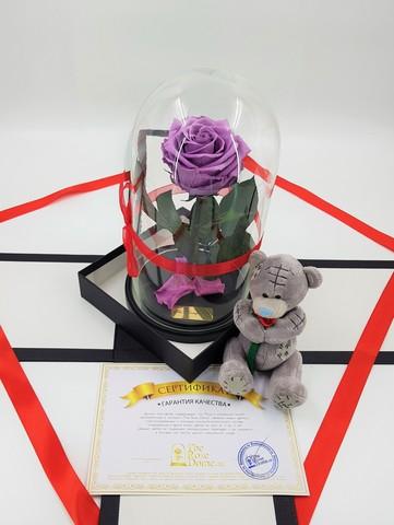 Комплект подарочный Premium Оптом (Выс*Диам*Бутон 27*15*7-8см)Цвет нежно фиолетовый