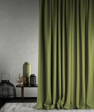 Готовая штора Балли зеленый