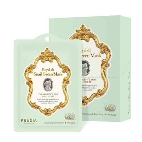 FRUDIA Роял Омолаживающая маска с экстрактом улитки / Frudia Royal de Snail Green Mask (20мл)