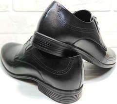 Весенние мужские туфли из натуральной кожи Ikoc 3416-1 Black Leather.