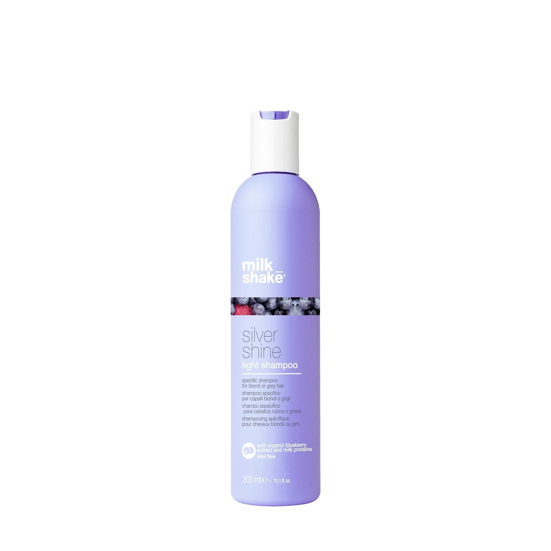 Пигментированный шампунь для тонких осветленных и седых волос / Milk Shake silver shine light 300 мл