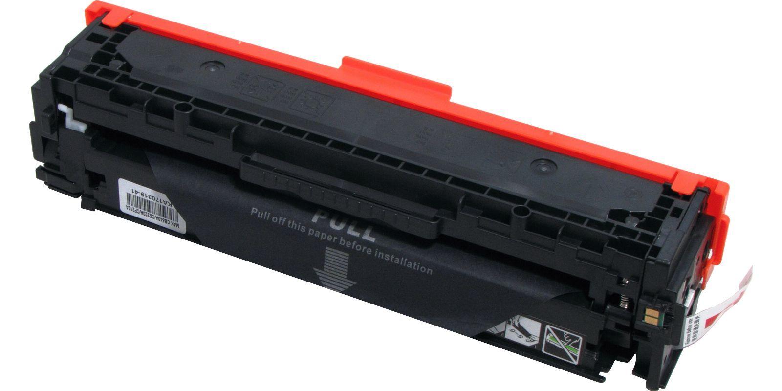Картридж лазерный цветной MAK© 125A/128A/131A CB540A/CE320A/CF210A черный (black), до 2200 стр.