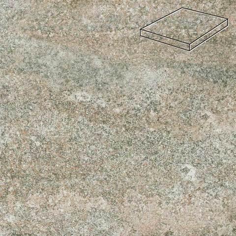 Stroeher - Keraplatte Epos 957 kawe 340х340х35х11 артикул 9441 - Угловая клинкерная ступень прямоугольная Loftstufe