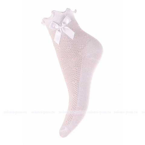 Носки с бантиком и ажурной резинкой (12-20) ЛВ.А9Ж