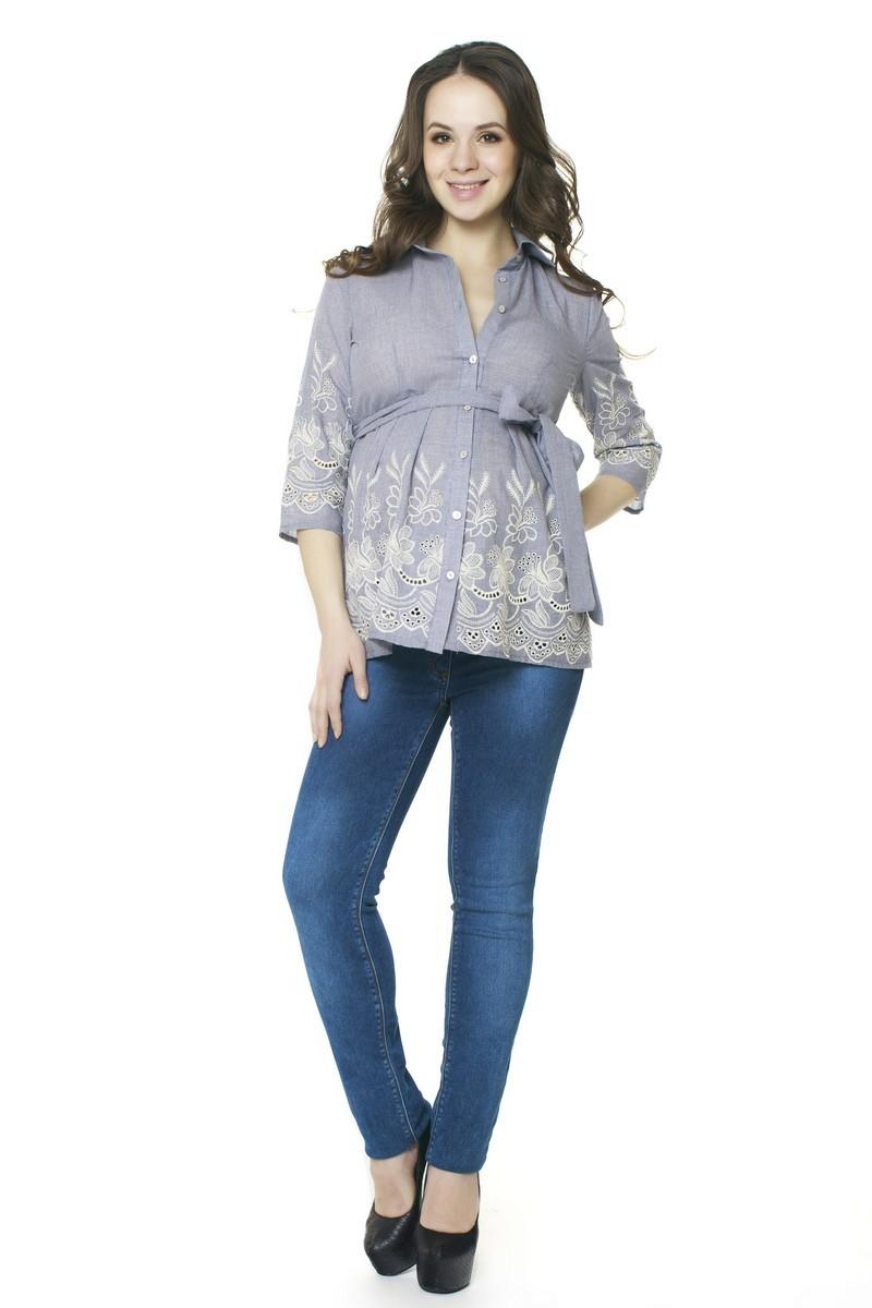 Блузка для беременных 07439 синий