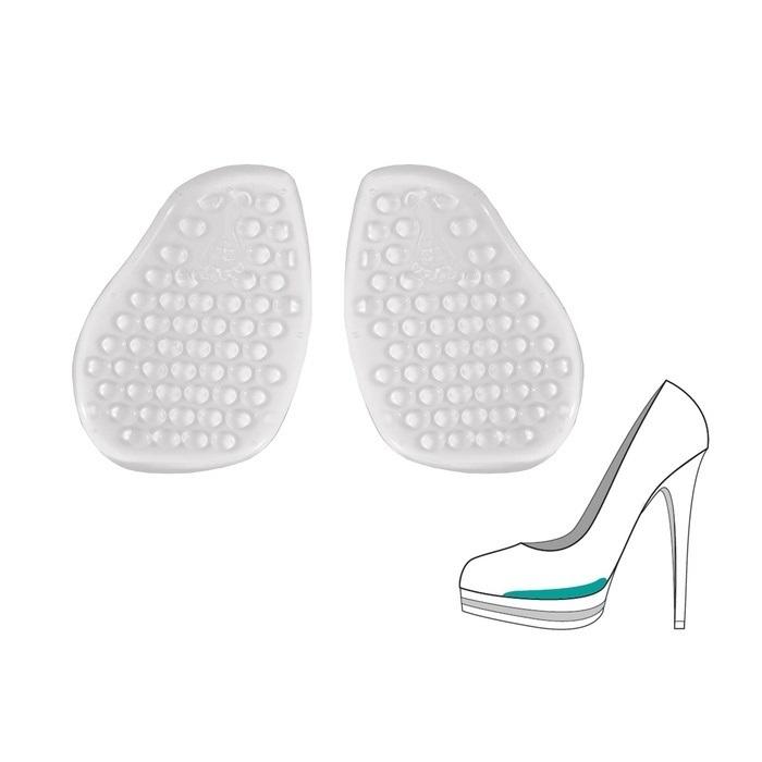 Массажные полустельки под стопу для уменьшения взъема модельной обуви на 3 мм, 1 пара