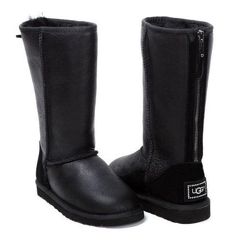 UGG Tall Zip Metallic Black
